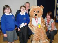 Teddy & Children from Norbridge Academy